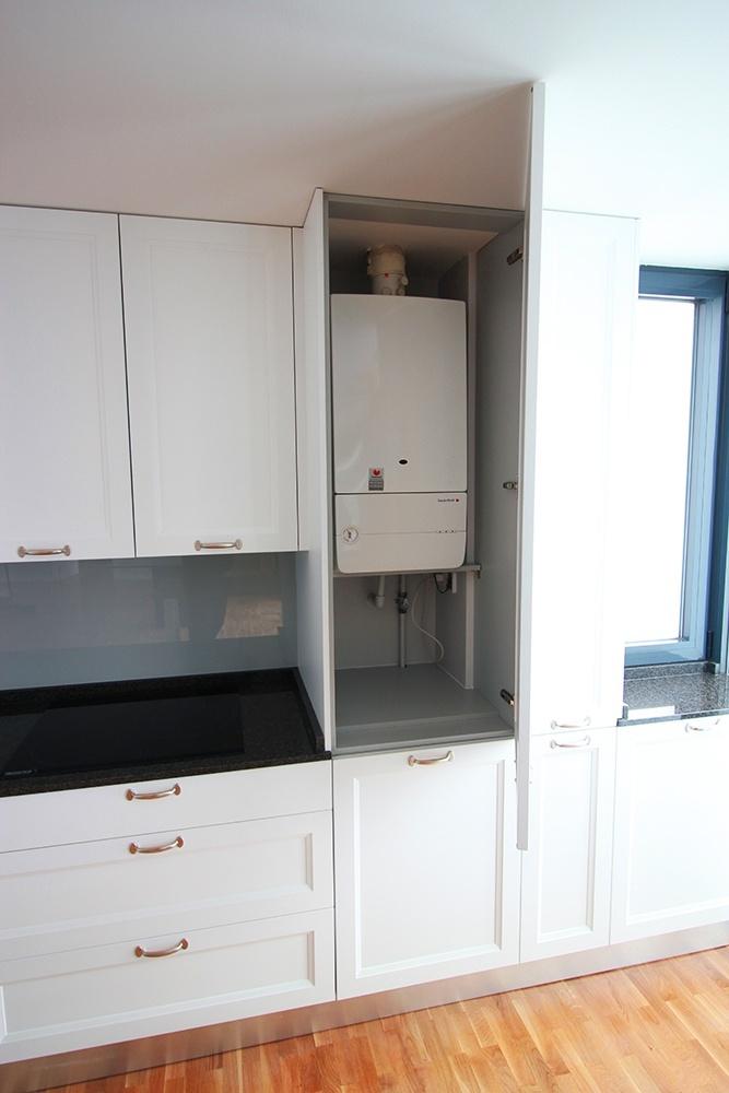 Mueble encimera cocina mueble de cocina moderno bicolor for Muebles para encimeras