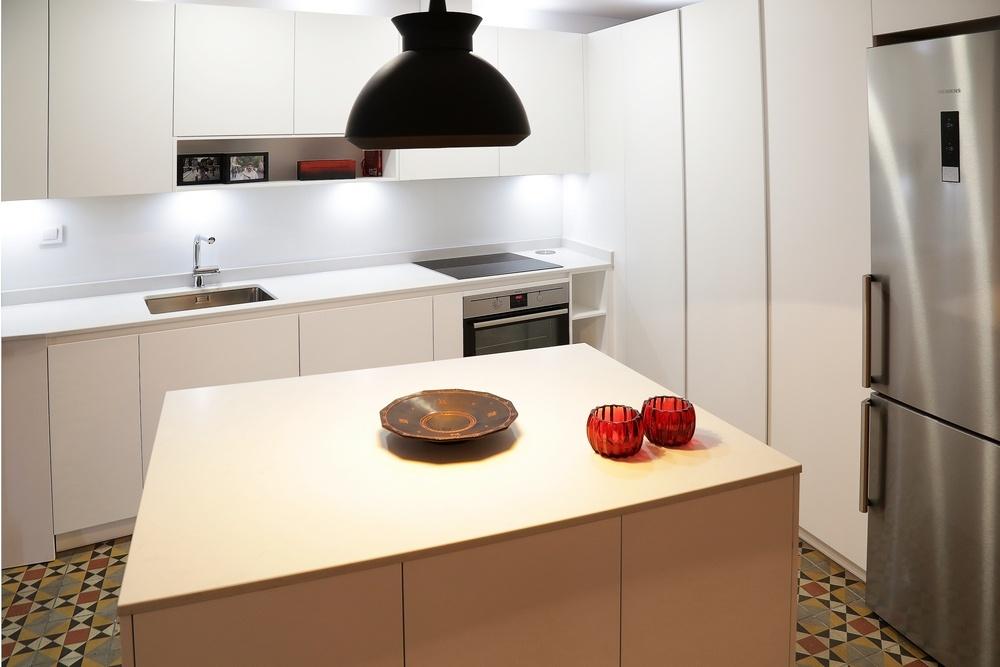 Diseño de cocinas en Cocina con Isla en calle Toledo, Madrid ...
