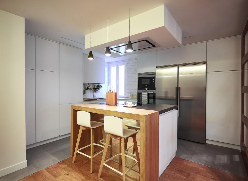 Diseño de cocinas en Cocina de diseño integración al salón, Madrid ...