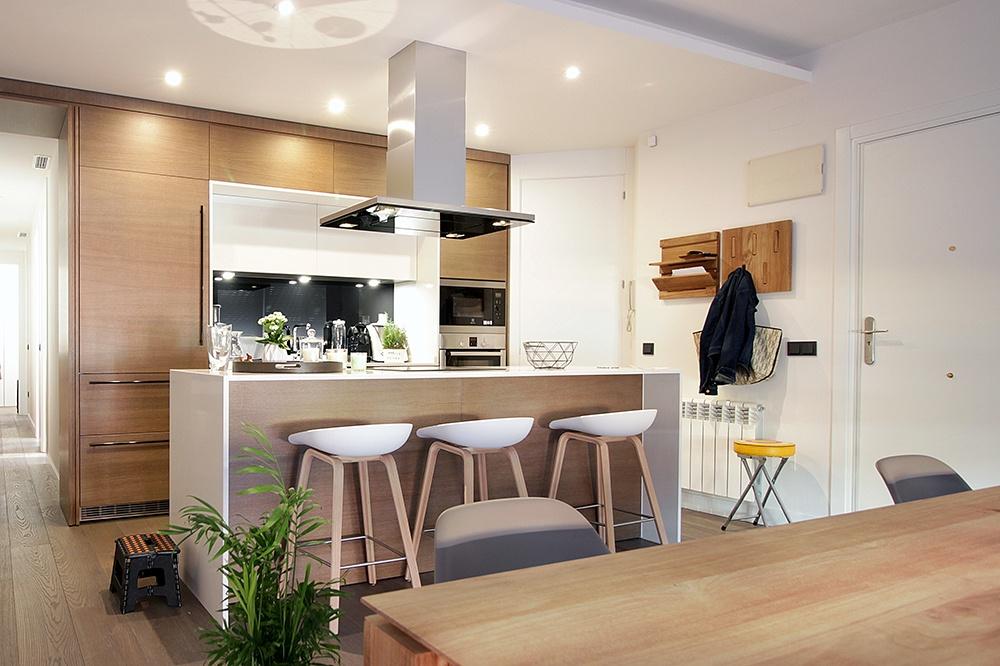 Cocinas Salamanca | Diseno De Cocinas En Cocina Abierta Al Salon Barrio De Salamanca