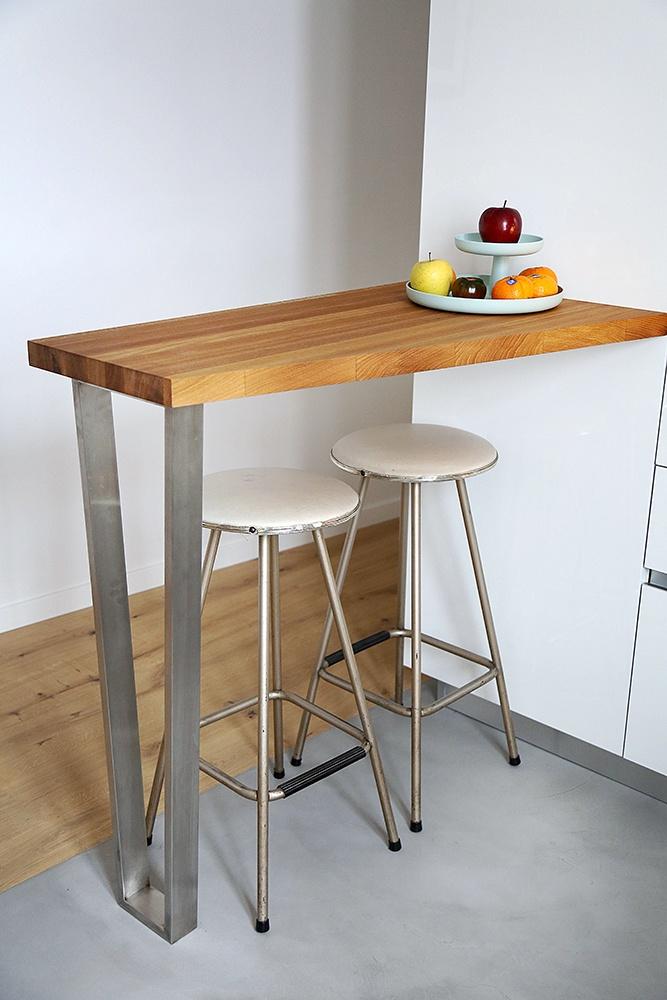 Cocina blanca con encimera de madera blogs de l nea 3 - Barras de cocina de madera ...