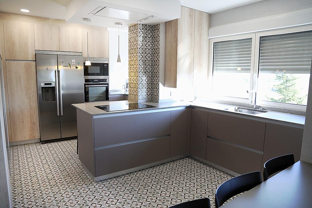 30112017 cocina americana abierta al saln en san fernando de henares sper luminosa y espaciosa - Distribucion Cocina