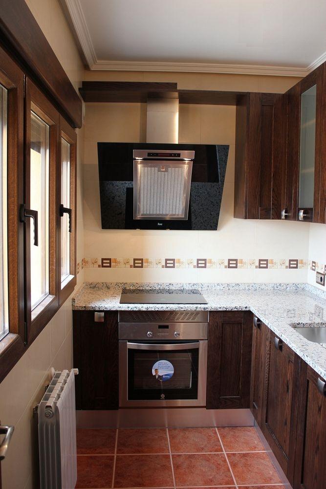 diseo de cocinas en cocina rustica encimera granito rosabel with cocinas de obra modernas