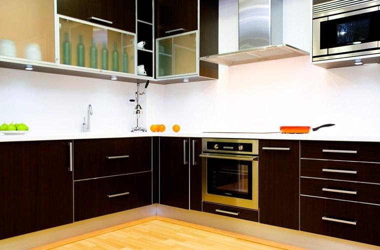 Cocina Modelo Laminado mate canto aluminio - Línea 3 Cocinas